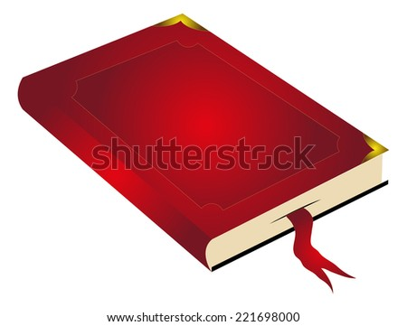 Book with bookmark - stock vector