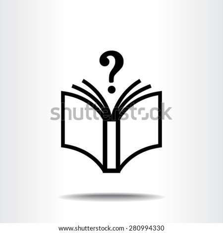 Book with question mark sign icon, vector illustration. Flat design style  - stock vector