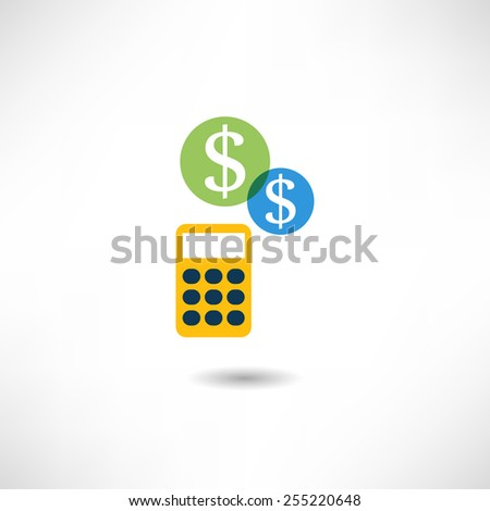 Bookkeeping icon - stock vector