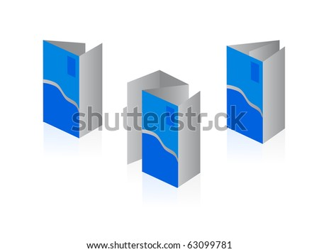 booklet isolated on white background - stock vector
