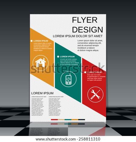 Booklet vector design. Brochure cover or flyer template. - stock vector