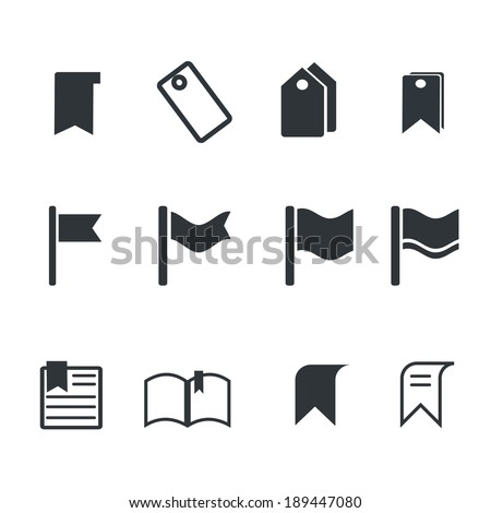 bookmark  icons - stock vector