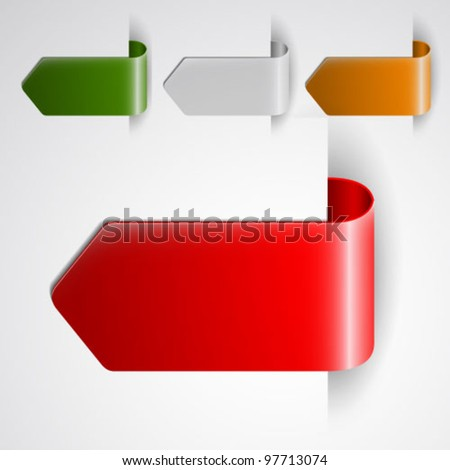 Bookmarks advertise - stock vector