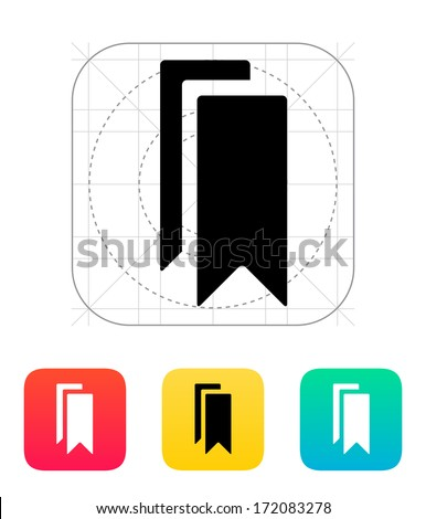 Bookmarks icon. Vector illustration. - stock vector