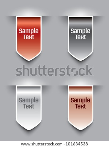 Bookmarks. Vector illustration. Eps10. - stock vector