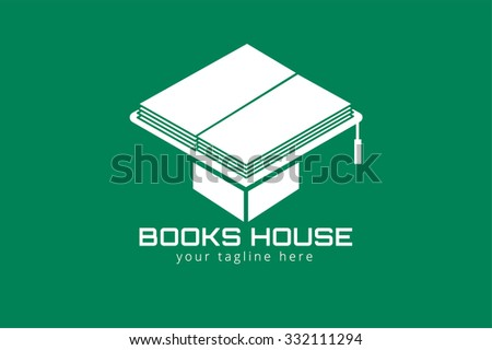 Books hat vector logo. Books icons. Books education hat. Books isolated on background. Book logo. Books hat. Back to school books. Education books, university, books symbol, book stack.Book vector hat - stock vector