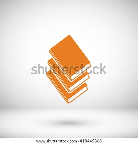 Books icons in vector. - stock vector