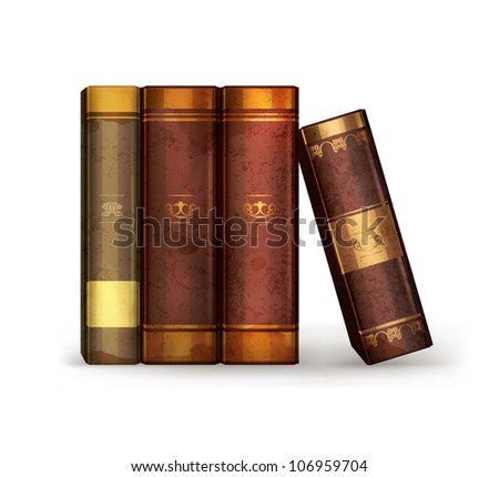 Books, old-style vector isolated
