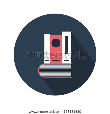 Books stack icon. Flat design. Vector illustration - stock vector