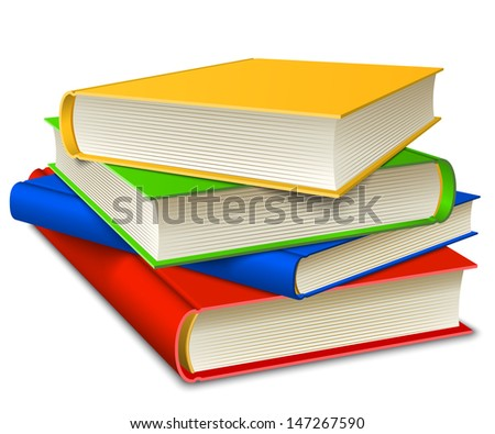 Books Stack isolated on white background. Vector illustration EPS10.