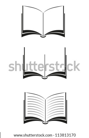 Books. Vector black. EPS-10 (non transparent elements,non gradient) - stock vector