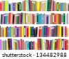 Books - vector illustration - stock photo