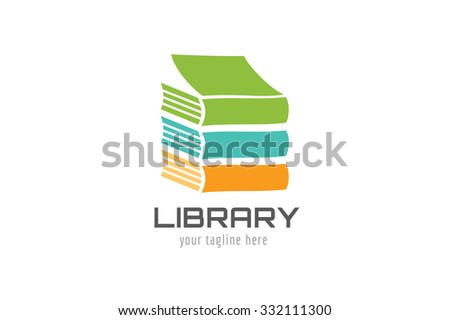Books vector logo. Books icons. Books skyscraper. Books isolated on white background. Book logo. School books. Education books, university, books symbol, book stack. Book vector icon. Books logo icon - stock vector