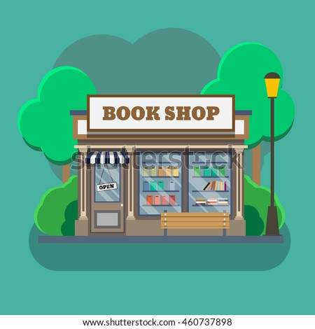 bookshop, bookstore vector