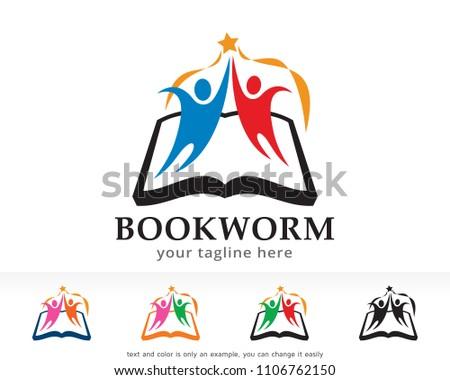 Bookworm Logo Symbol Template Design Vector Stock Vector HD (Royalty ...