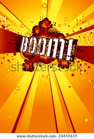 Boom! - stock vector