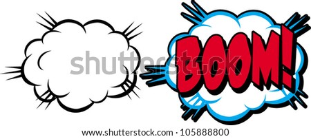 boom cloud - stock vector
