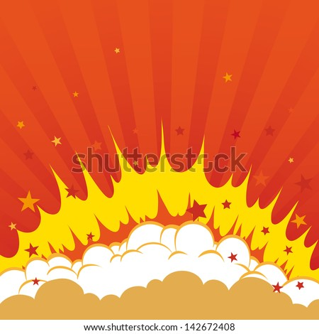Boom. Comic book explosion background - stock vector