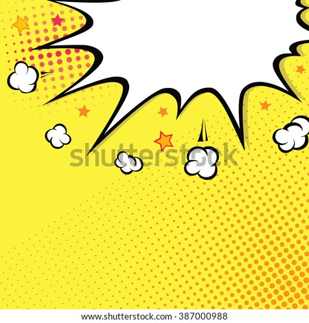 Boom. Comic book explosion on top. background - stock vector