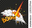 Boom.Comic book explosion, vector illustration - stock vector