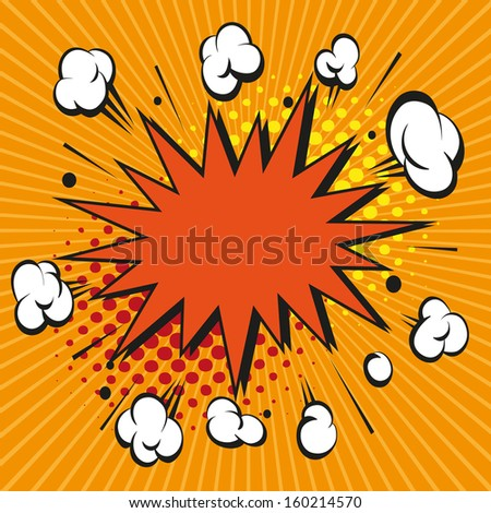 Boom comic book explosion, vector illustration - stock vector