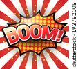 Boom, Comic Speech Bubble. Vector illustration - stock
