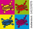 boom comics icons  over colorful  background vector illustration - stock vector