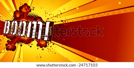 Boom! (horizontal) - stock vector