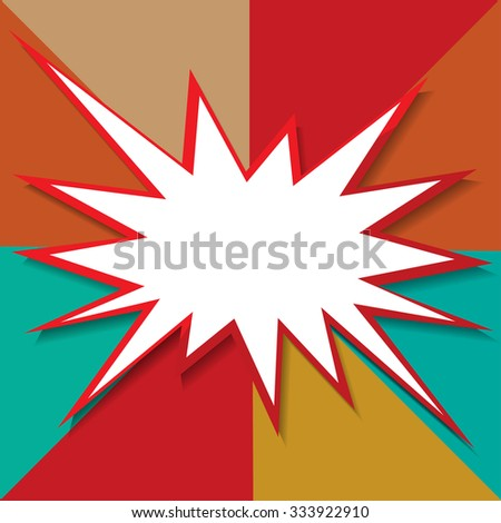 boom icon background vector illustration - stock vector