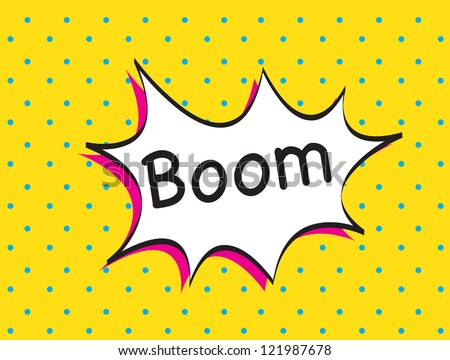 boom icon over yellow background vector illustration - stock vector