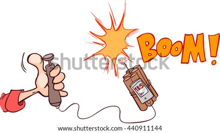 Boom of the dynamite. Comic book explosion - stock vector