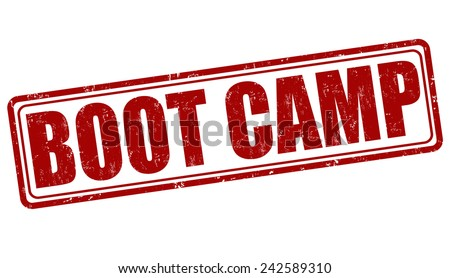 Boot camp grunge rubber stamp on white background, vector illustration - stock vector