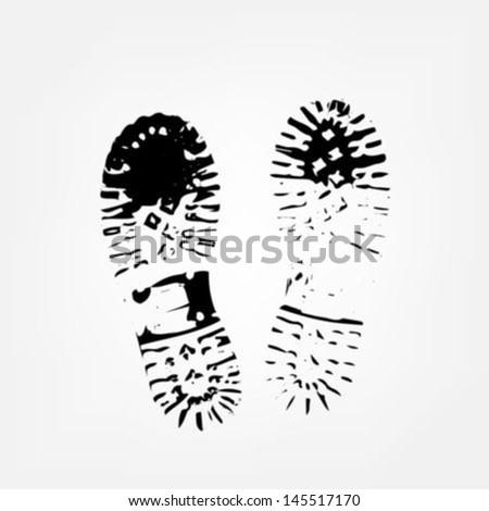 Boot print - stock vector