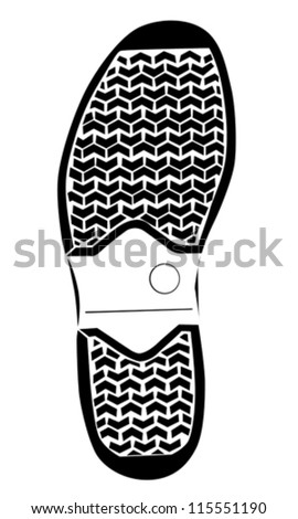 boot trace on white background , vector illustration - stock vector
