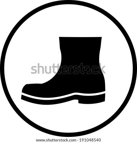 Boot vector icon - stock vector