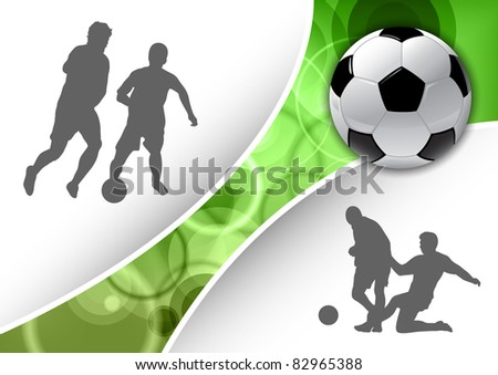 bootball symbols with green line - stock vector