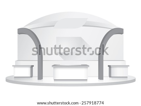 booth template - stock vector
