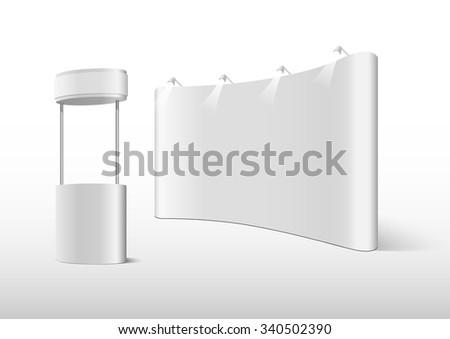 booth vector - stock vector