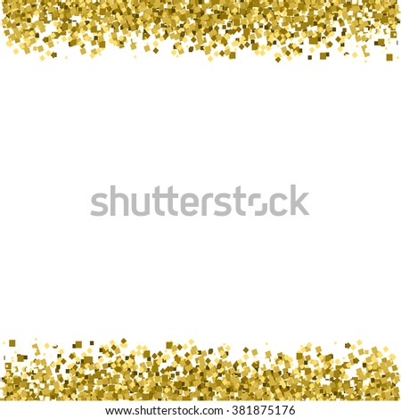 border background gold glitter vector texture stock vector
