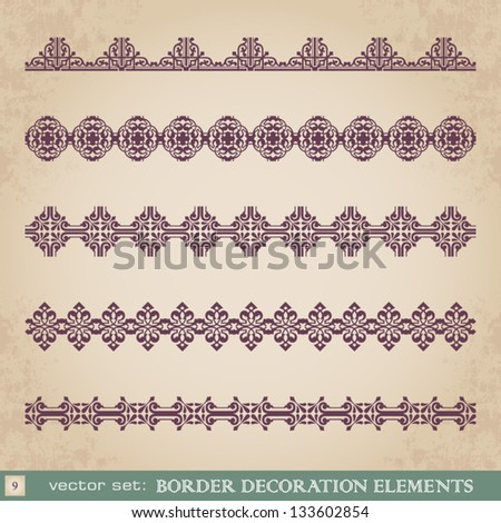 Border decoration elements set 9