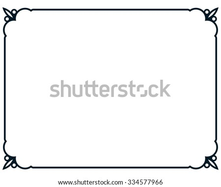 simple frame border design. Border Frame Line Deco Vector Label Simple Design A