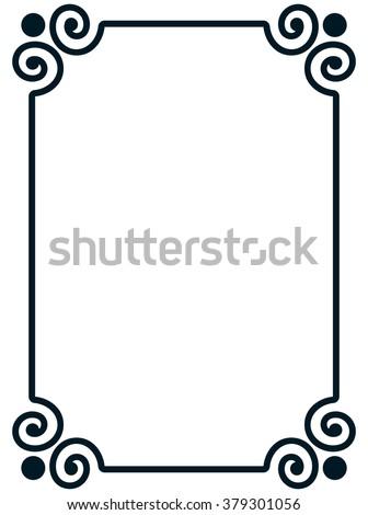border frame line deco vector label stock vector royalty free rh shutterstock com vector border clipart vector border images