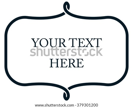 Border Frame Line Deco Vector Label Stock Vector 379301200 ...