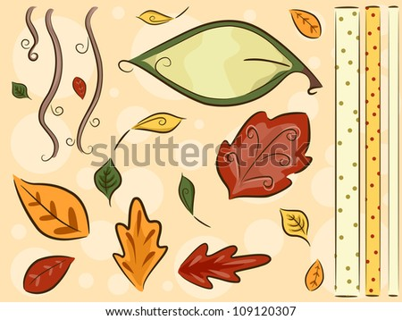Border Illustration Featuring Leaves