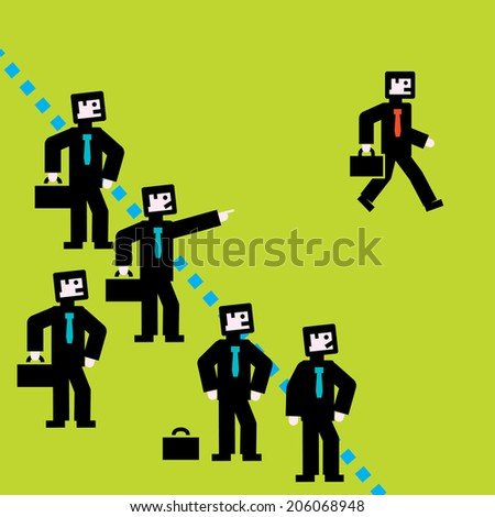 Border Line - stock vector