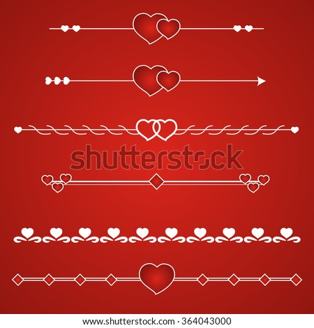 Border vector heart. Symbol valentines day. - stock vector