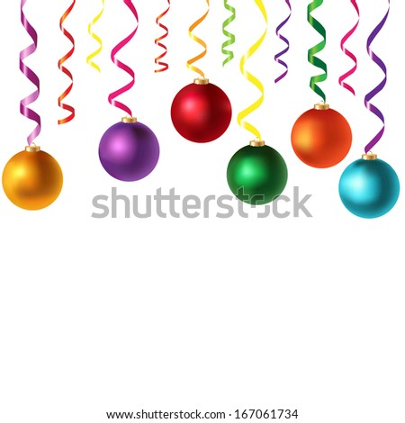 Border With Serpentine And New Years Toys, With Gradient Mesh, Vector Illustration