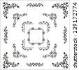 Borders corners. Design elements - stock vector