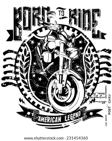 Born to ride - stock vector