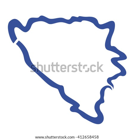 Cartoon Vector Illustration Map United States Stock Vector - Usa map outline clipart